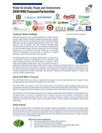 2030 WRG Tanzania Partnership