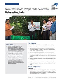 Hydro-Economical Analysis of Opportunities to Improve Water Use in the Agriculture Sector in Maharashtra