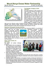 Mount Kenya Ewaso Water Partnership Factsheet