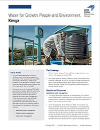 Water for Growth, People and Environment Kenya