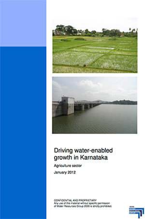 Driving water-enabled growth in Karnataka