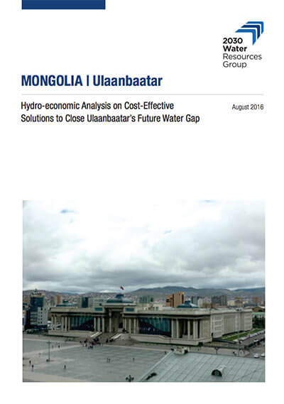 Hydro-economic analysis on cost-effective solutions to close Ulaanbaatar's future water gap